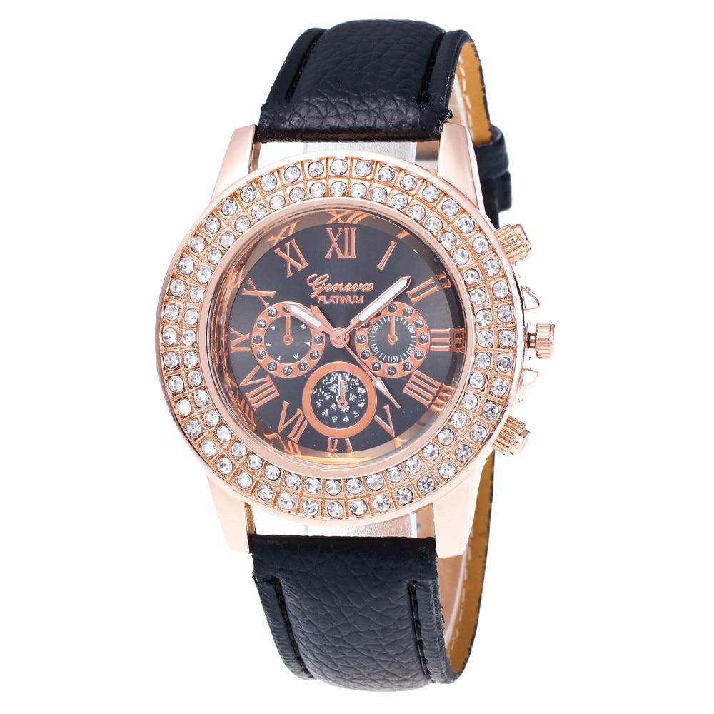 Dazzling Men's Watches Three Eyes And Six Pointer Roman Scale Dial Watches Male Quartz Analog Wrist