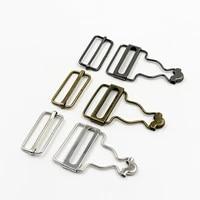 2pcsset jeans suspenders buckle fastener rivets denim bib sewing accessories clothes overalls metal button brace clips gourd