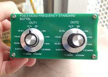 От BG7TBL FOS 3 OCXO Частотный стандарт 2CH слово часы, поддержка внешнего rb часы вход ссылка для аудио оборудования динамик