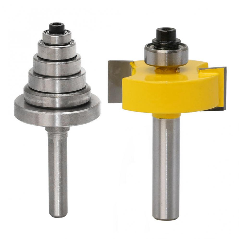 Drill Bit Tenon Router Rabbeting  Bearings Set for Multiple Depths 1/8 inch1/4 inch 5/16 3/8 7/16