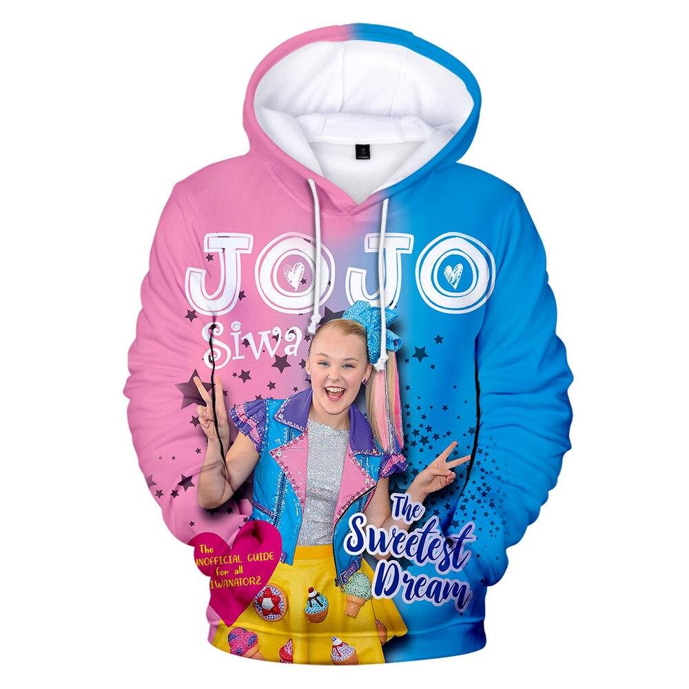 3-14 jahre JOJO Siwa Kinder Herbst Frühling Top Hoodies Sweatshirt T shirt Kleidung Mit Kapuze Shirts Baby Mädchen Teenager baumwolle Kleidung