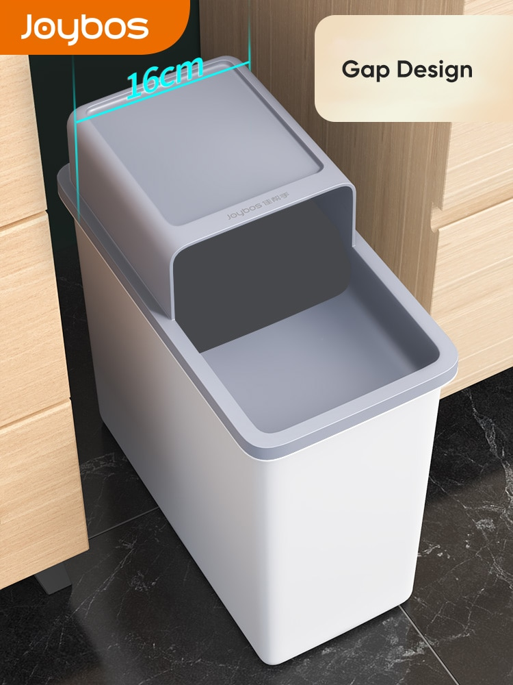 Joybos kosz na śmieci wodoodporny wąski szew kosz na śmieci ochrona prywatności wiadro śmieci dla gospodarstw domowych toaleta wc kuchnia Bin JX86