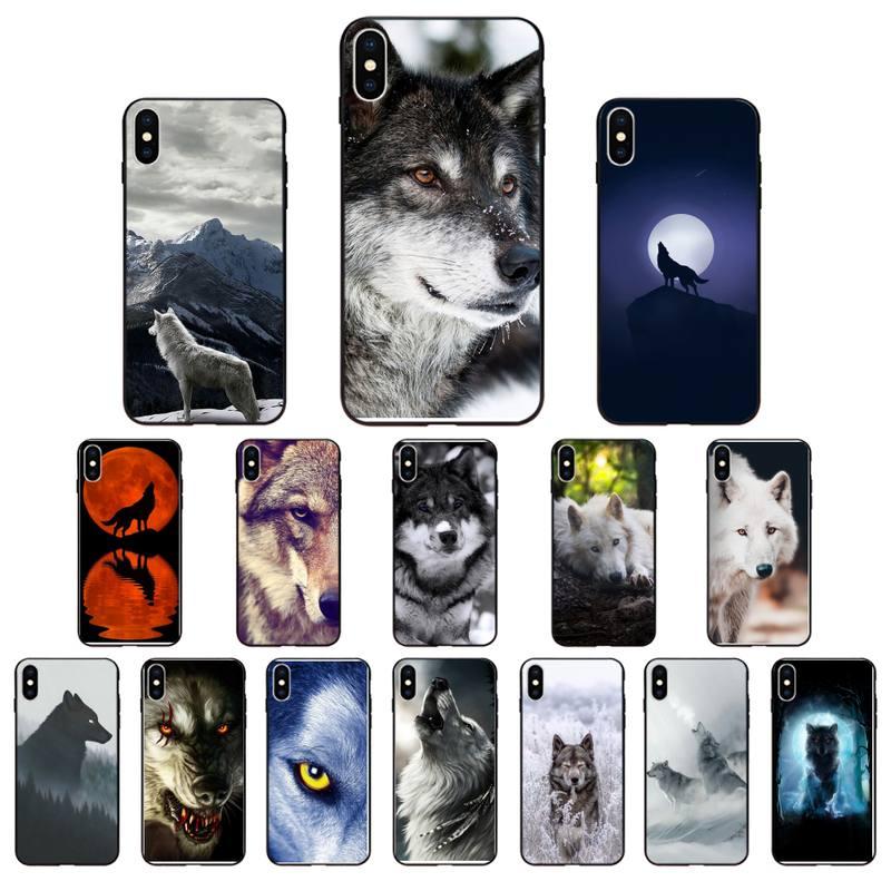 Babaite Animal aullando Blancanieves Lobo funda de teléfono para iPhone 7 8 Plus X XS Max XR Coque funda para iphone 5s SE 2020 6 6s 11Pro