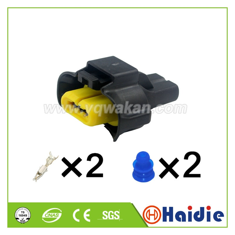 Free shipping 2sets 2pin VW passat fog lamp auto wire electrical female cable connector 240PC023S401