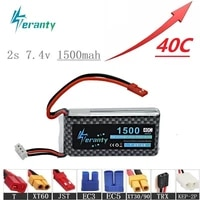 high rate 40c 7 4v 1500mah lipo battery for rc helicopter parts 2s lithium battery 7 4 v airplanes battery with jsttxt60 plug