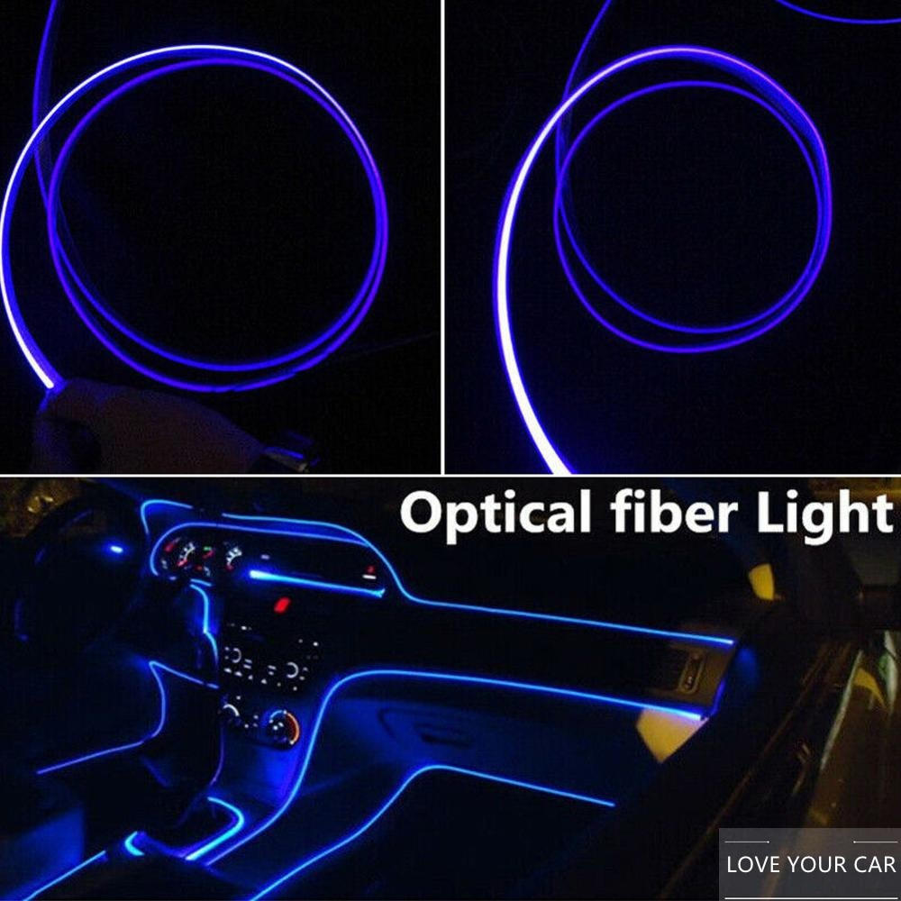 4m car led strips auto decoration atmosphere lamp 12v flexible neon el wire rope indoor interior led car light Car Atmosphere Light 4m LED Strips Decoration Lamp 12V Flexible Neon EL Wire Rope  Interior Decoration Fashion Auto Accessories
