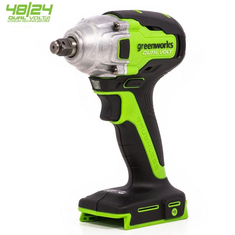Greenworks 48/24 فولت ثنائي فولت 1/2 بوصة اللاسلكي فرش المفتاح الكهربائي مفتاح بانة مفتاح بانة 400N.m