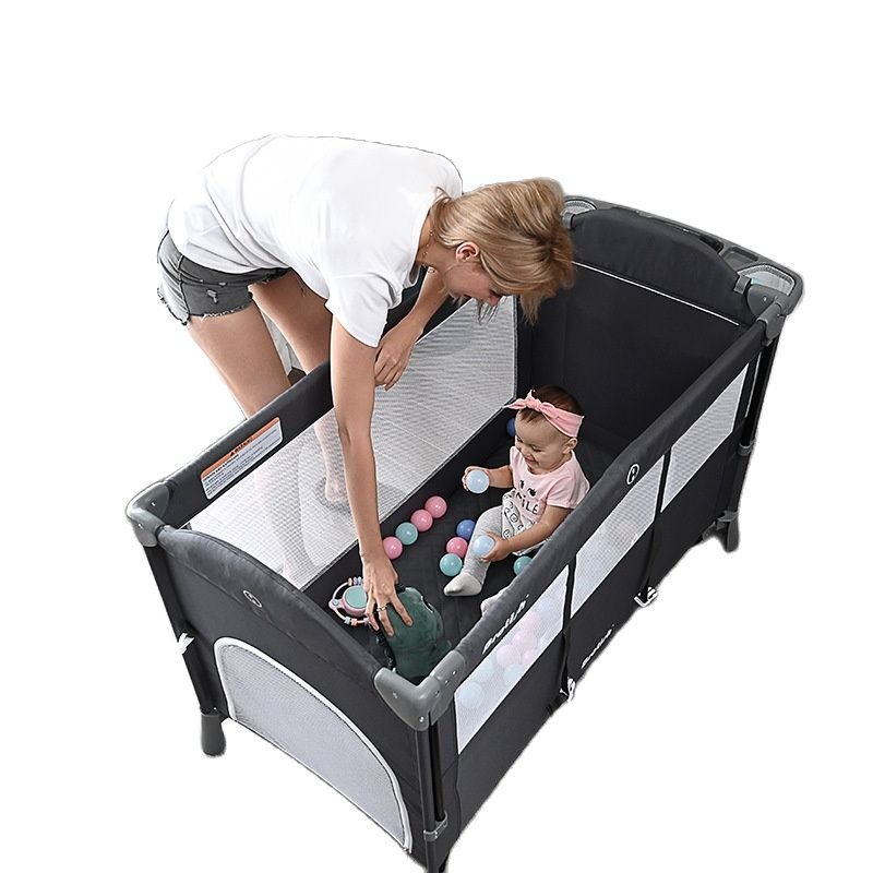 New Upgrade Multifuction Baby Crib Splicing Large Kid Bed Removable bb Portable Folding Newborn Cot Bedside Bed Cradle
