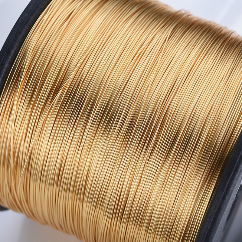 5 Meters 0.3MM 0.4MM 0.5MM 0.6MM 0.7MM 0.8MM 24K Gold Color Brass Make Shape Metal Wire High Quality