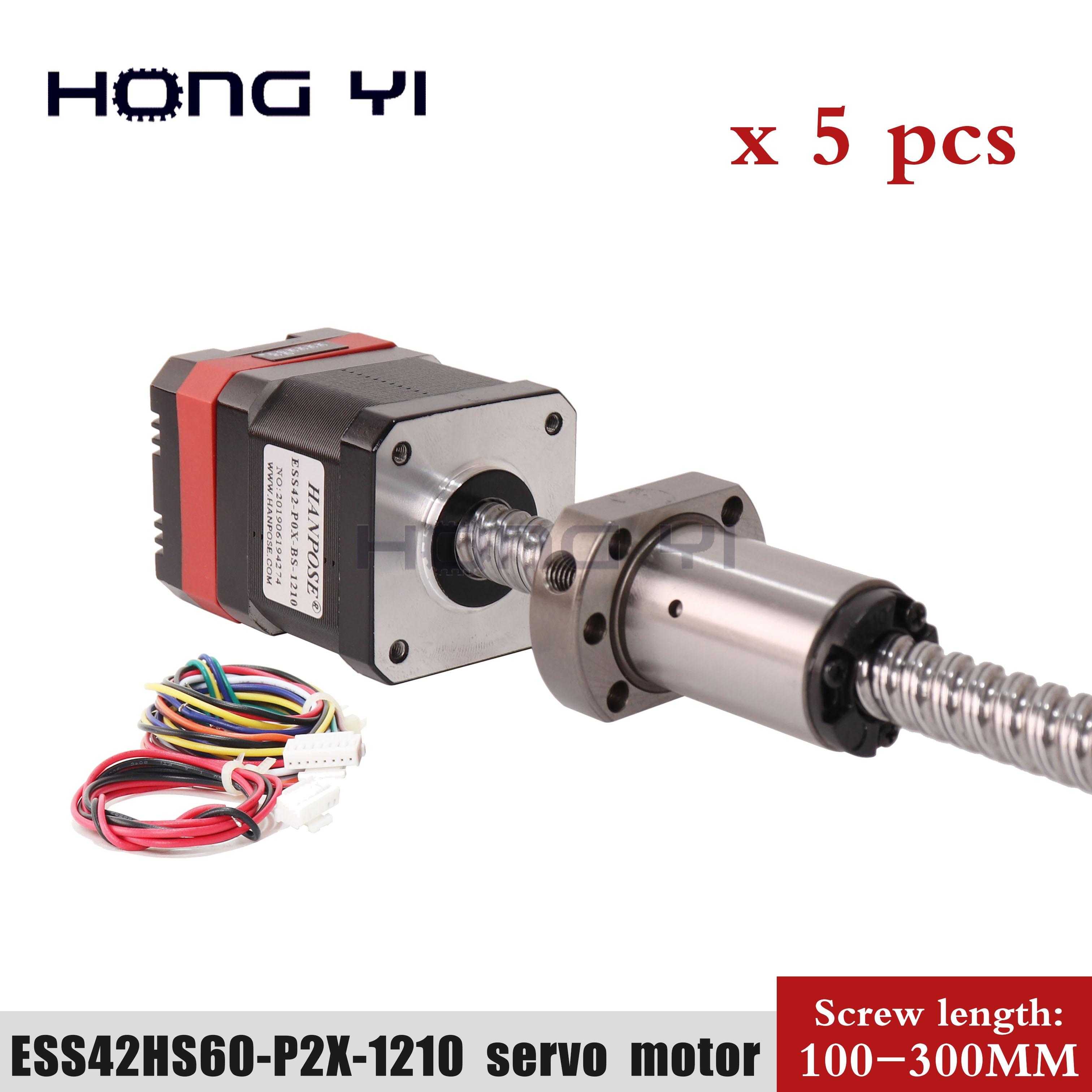 5pcs high torque ball screw motor 42hs60-p2x-sfu1210 servo stepping motor + drive combination 1.8A closed-loop motor