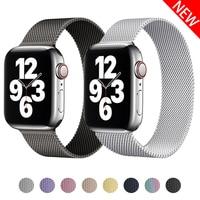 Ремешок магнитный для Apple watch band 44 мм 40 мм 38 мм 42 мм, браслет из нержавеющей стали для смарт-часов Iwatch se 6 5 4 3