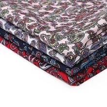 JOJO nœuds 45*150cm 1pc tissu imprimé Amoeba feuilles vêtements couture matériaux à la main foulards fournitures maison Textile bricolage artisanat