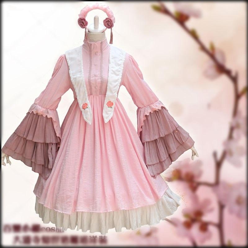 Anime Card Captor Sakura Daidouji Tomoyo Cosplay Kostüm Lolita Kleid Kostüme Cosplay Daidouji Wig tomoyo Cosplay