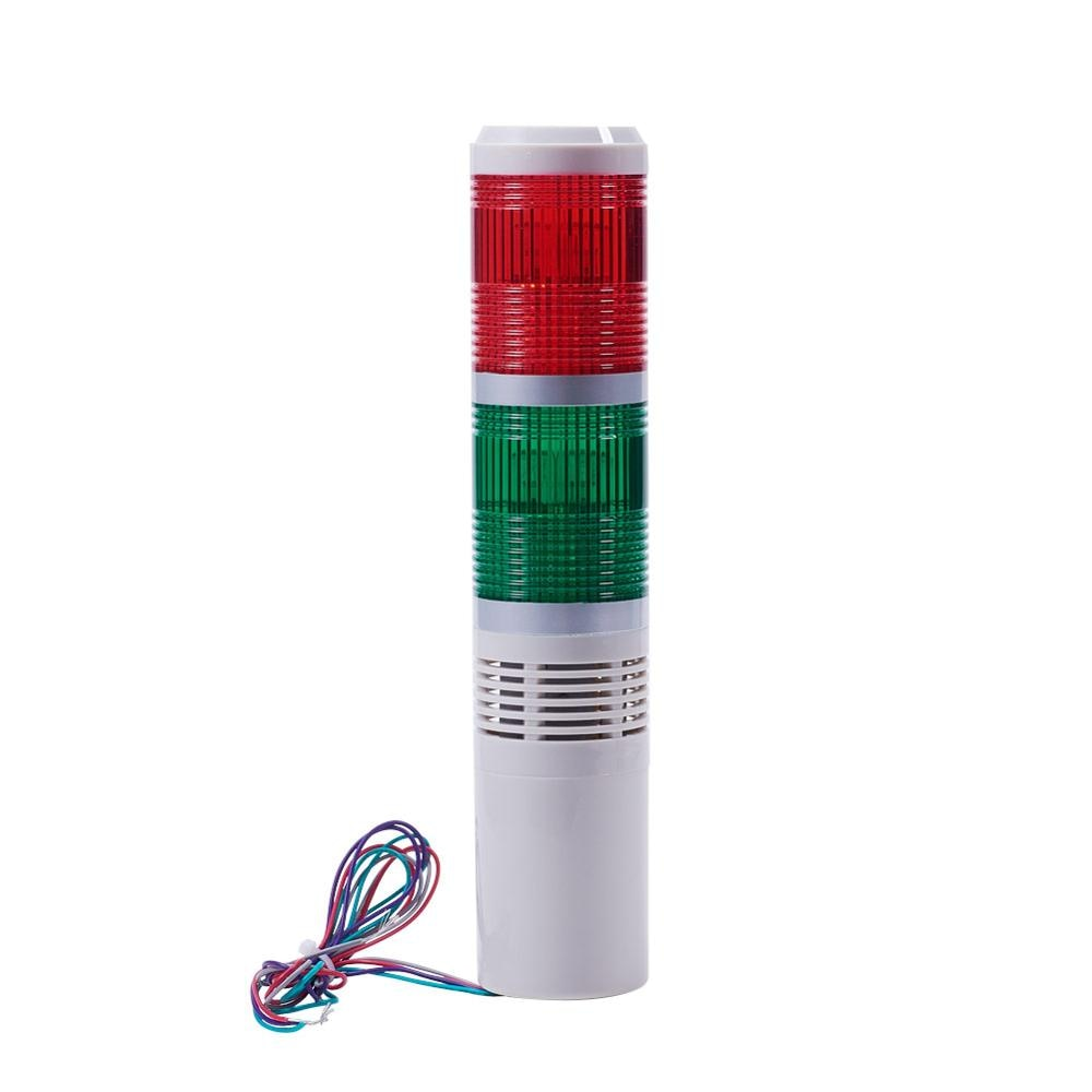 Multiple Models 24V/220V 3W Multi-layer Warning Lights Safety Stack Always Bright Industrial Tower Long Tube Signal With Sound lta 505j ac220v 2 layers signal tower light with sound 90db