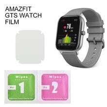 1/2/5 adet koruyucu Film için Amazfit GTS serisi akıllı saat bileklik tam ekran koruyucu hidrojel Film değil temperli cam