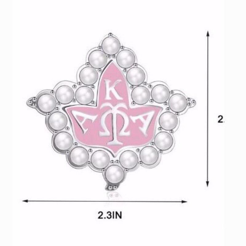 Broche de hoja AKA griego Alpha Kappaa Alpha, broches de flores de hermandad para mujer, accesorios de ropa, joyería