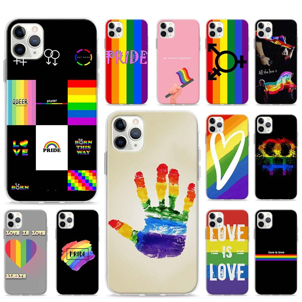 ЛГБТ Радужный Флаг Прайд арт чехол для Apple iPhone SE 2020 11 Pro Max XR X XS 6 7 8 SE2 Plus чехол для телефона