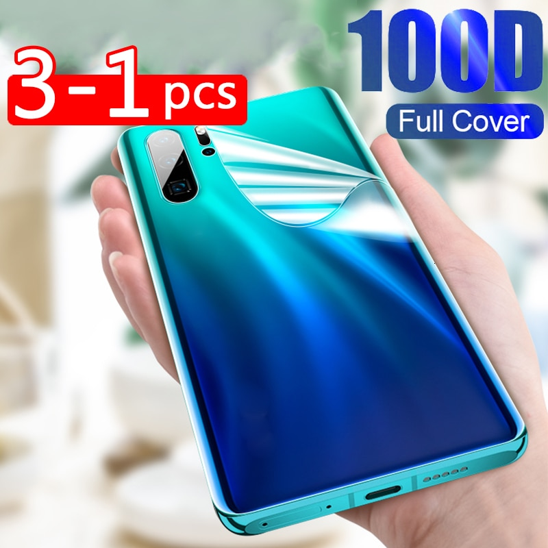 3-1 Pcs Back Hydrogel Film For Samsung Galaxy A50 A10 S10 S9 S8 Plus Note 8 9 10 Pro S10E Screen Pro