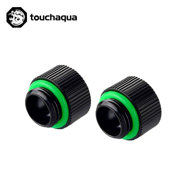 "2 uds Bitspower Touchaqua G1/4 ""10mm extensor macho a hembra Accesorios negro, plata, BPTA-F95"