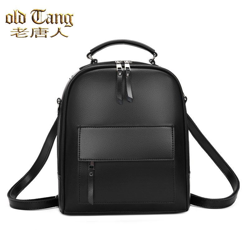 OLD TANG College Wind Backpack Shoulder Bags for Women 2020 Designer PU Leather Women's Fashion Casu