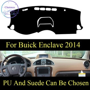 Customize For BUICK ENCLAVE 2014 Dashboard Console Cover PU Leather Suede Protector Sunshield Pad