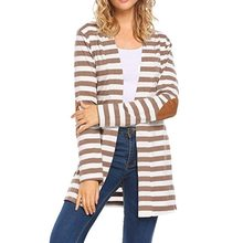 2019 długi sweter kobiet z długim rękawem z długim rękawem nadruk w paski, łokieć, Patchwork, sweter dziergany sweter Plus Size odzież wierzchnia