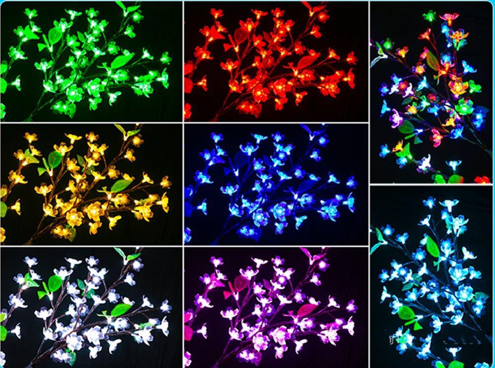 Outdoor RGB color  LED Cherry Blossom Christmas Tree lamp 1.5M 432 led bulds Xmas tree  Light for garden Festival Decor