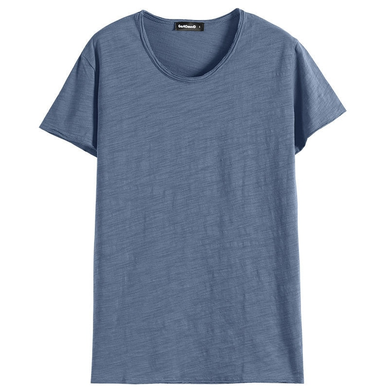 Short-sleeved t-shirt men's slim round neck print half sleeve summer men's t-shirt trend