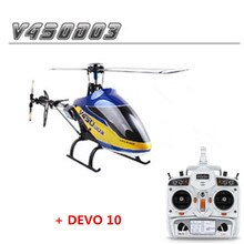 Original Walkera V450D03 With Devo 10  Transmitter 6CH 3D 6-axis-Gyro Flybarless RC Helicopter With