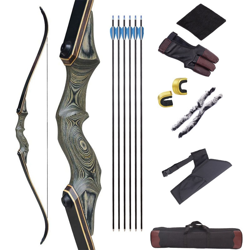 60inch-30-60lbs-archery-recurve-bow-black-hunter-bow-lamination-bow-limbs-right-left-hand-outdoor-sports-hunting-accessories