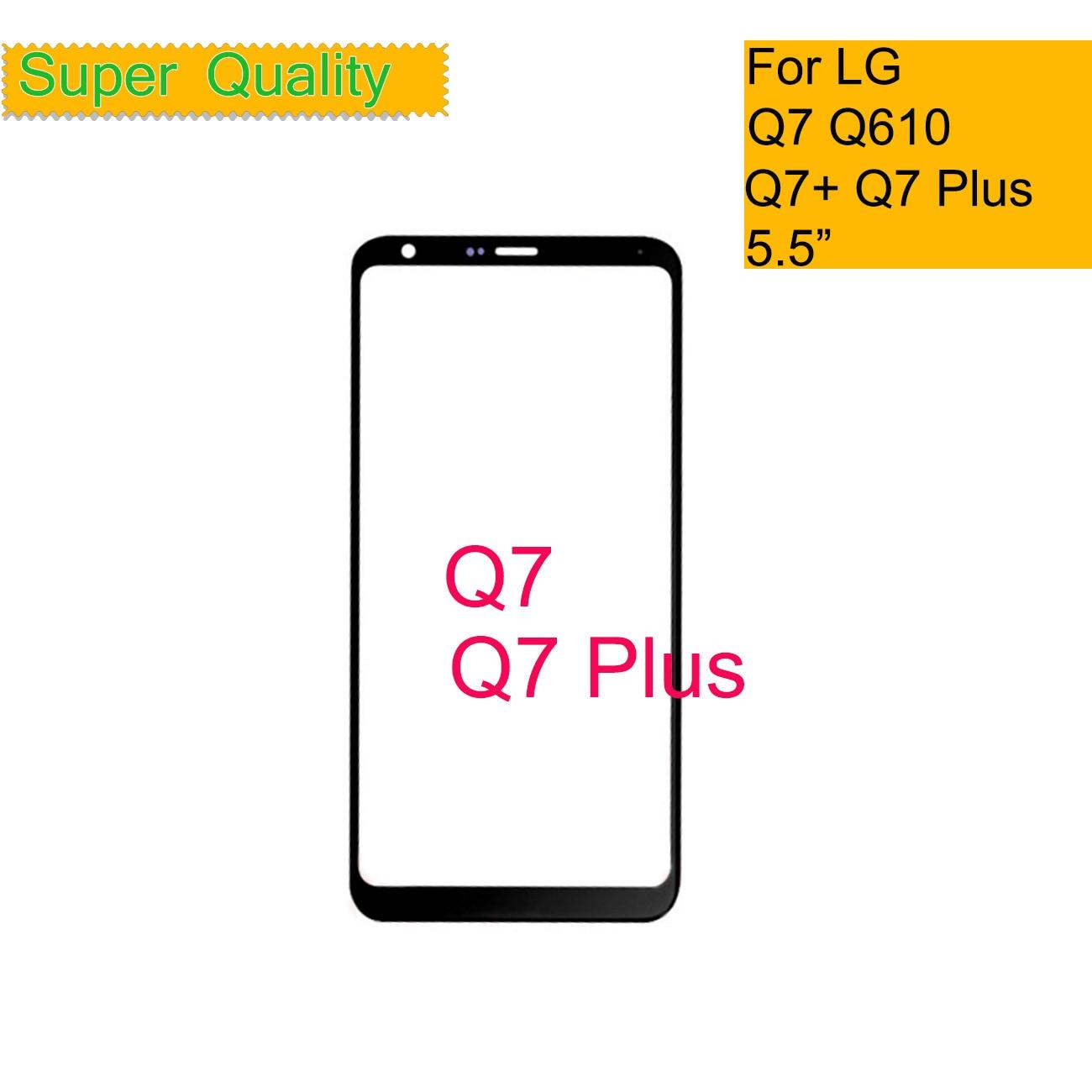 10 unids/lote para LG Q7 Q7 + Q7 Plus Q610 LMQ610 Q610TA pantalla táctil Panel frontal de vidrio exterior para LG Q7 LCD cristal