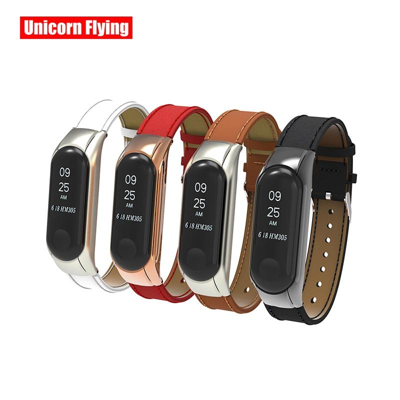 LinXiang High Grade Microfiber Leather Wrist Strap For Xiaomi Mi Band 4 3 Universal Smart Bracelet Accessories