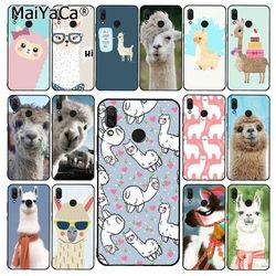 Maiyaca lama alpacas animal estojo de telefone para xiaomi redmi8 4x 6a 9 note8t 5plus note5 7 note8pro