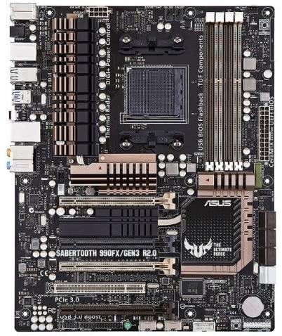 Para ASUS SABERTOOTH 990FX R2.0 PC Original placa base hembra AM3 +...