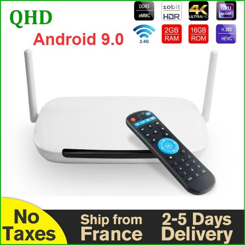 4K Leadcool QHDTV Q9 فك التشفير 8GB 16GB RK3229 رباعية النواة 2.4G واي فاي H.265 مشغل الوسائط QHDTV كود Leadcool ريسيفر لتليفزيونات أندرويد الذكيّة