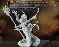 model kit resin kit avatars of war 28300 the queen of naga holds the black magic wand