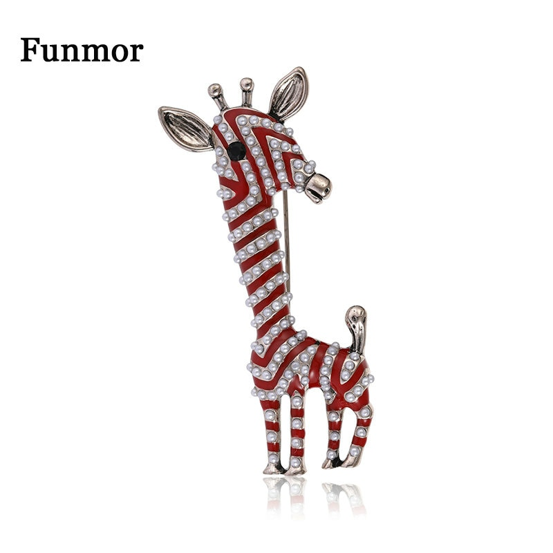 Funda de jirafa de rayas vívidas broche pasadores de animales pequeñas cuentas para mujeres niños abrigo bolsa decoración diaria adornos ramillete regalos
