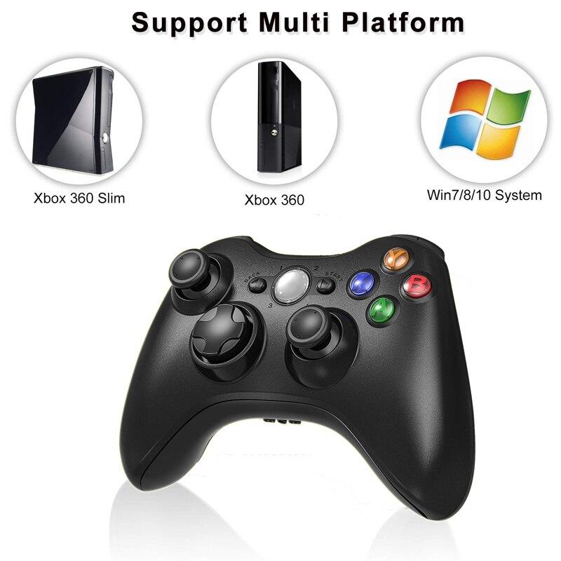 Mando inalámbrico de 2,4G para mando de consola Xbox 360, control receptor, mando para Microsoft Xbox 360, Joystick para PC win7/8/10
