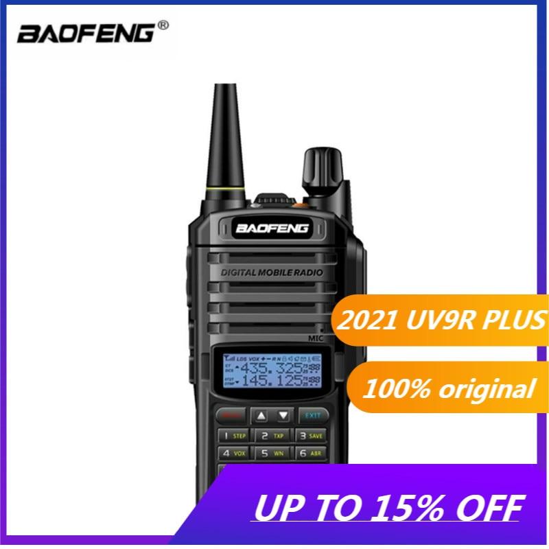 Портативная рация Baofeng UV-9R PLUS для охоты, водонепроницаемая двухсторонняя Автомобильная радиостанция, Любительский радиоприемник, высокоча...