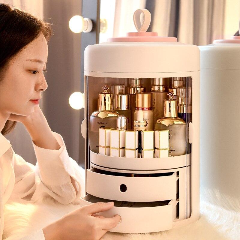 Creative Jewelry Cosmetic Storage Drawer Save Space Large Plastic Desktop Storage Box Makeup Organizer
