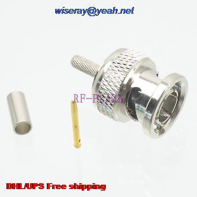 DHL/EMS 100 stücke Stecker BNC stecker crimp RG174 RG316 LMR 100 RG179 kabel 75ohm-A3