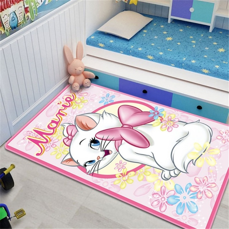 Disney Marie Cat Baby Play Mat 80x160cm Carpet Bedroom Kitchen Carpet Indoor Bathroom Mat  Baby Gym Cute Floor Mat