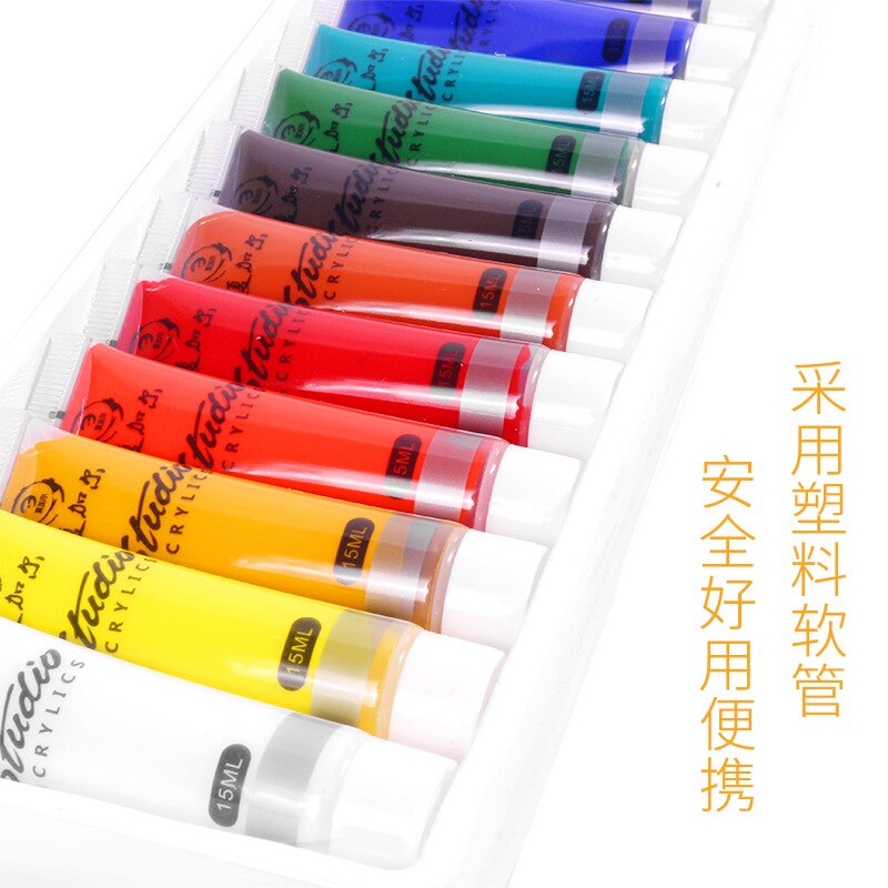 12/24 Colors Professional Acrylic Paints 15ml Tubes Drawing Painting Pigment Hand-painted Wall Paint for Artist DIY Art Supplies enlarge