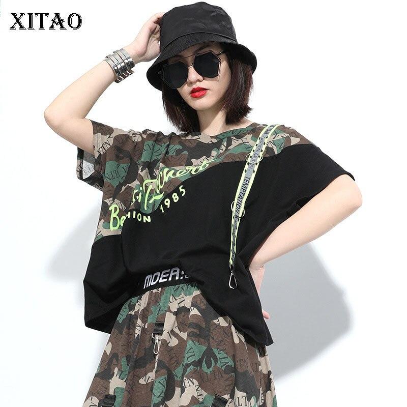 XITAO Print Pattern T Shirt Fashion New Pullover Goddess Fan Casual Style 2020 Summer Goddess Fan O Neck Loose Tee  GCC3661