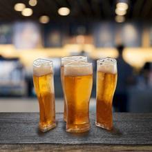 Bier Gläser 4 in 1 Acryl Kunststoff Material Bier Becher Super Schooner Kreative Lustige Acryl Glas Bier Becher Set Glas tasse Stein