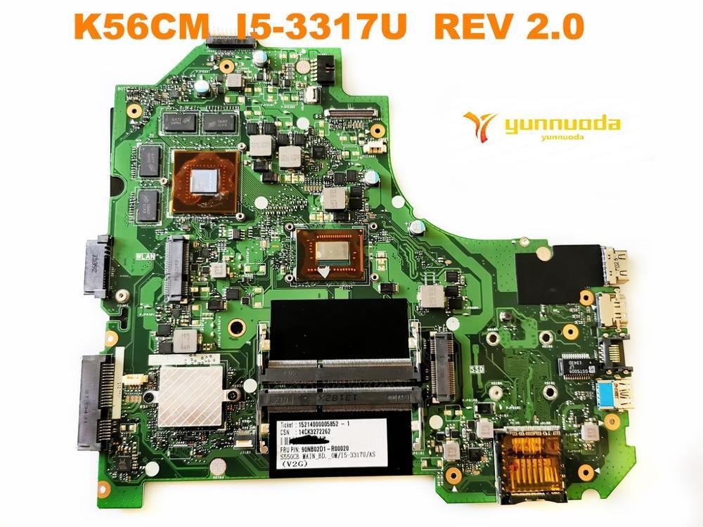 الأصلي ل ASUS K56CM اللوحة المحمول K56CM I5-3317U REV 2.0 اختبار جيد شحن مجاني