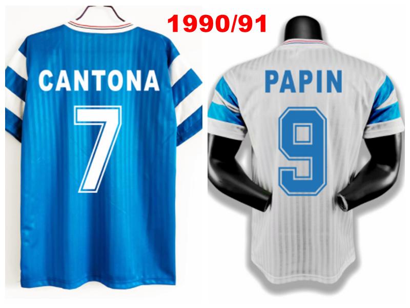 Camiseta Retro Om Casa azul y blanca de Jaguar, 1990/91