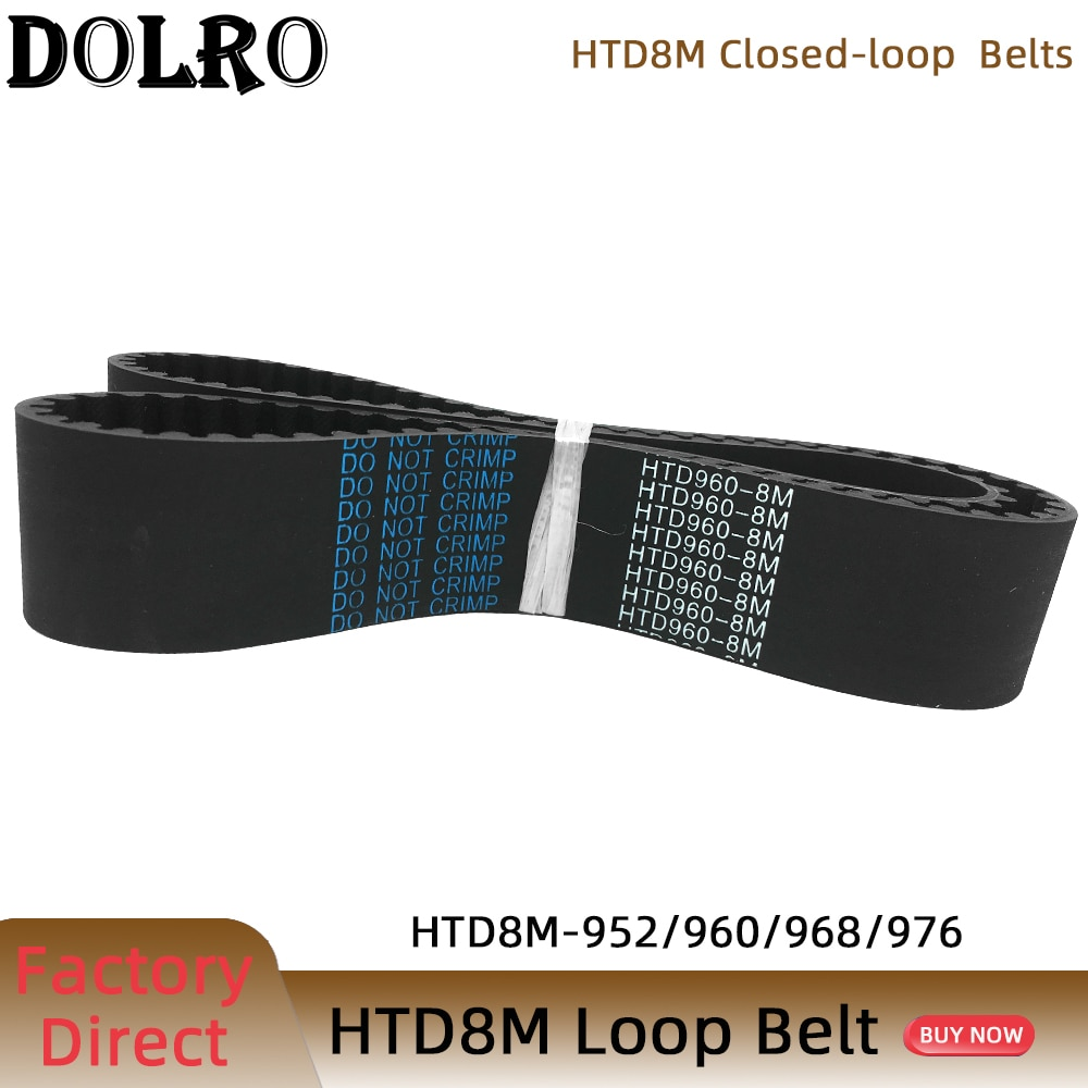 HTD 8M متزامن حزام C = 952/960/968/976 عرض 15/20/25/30/40/50 مللي متر الأسنان 119 120 121 122 HTD8M مؤقت اشتعال 920-8M 928-8M 936-8M