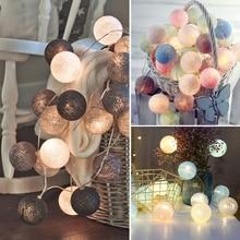 QYJSD 3M LED boule de coton guirlande lumineuse en plein air guirlande lumineuse vacances de mariage fête de noël chambre fée lumières décoration