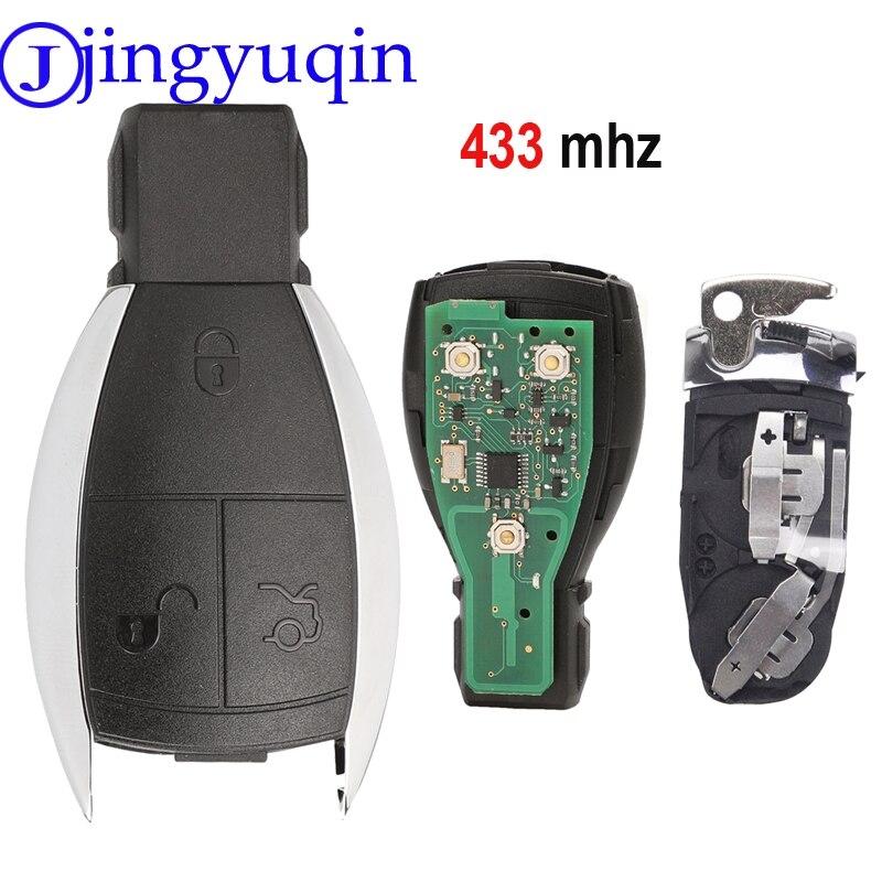 jingyuqin Remote 433MHZ 3 Button Key Case Cover Smart Key FOR MERCEDES BENZ A B C E G R CL CLK E G GL M S SLK CLASS Fob Control